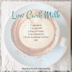 Low Carb Milk